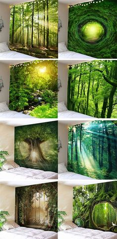 Free shipping over $39. Buy 1 get 30%. Forest Sunlight Decorative Wall Tapestry. #dresslily #tapestry #homedecor