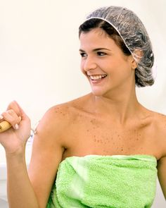 To soften scorched strands, wet your hair with warm water, massage in a deep-conditioning treatment loaded with olive oil or hydrolyzed elastin, and tuck tresses into a shower cap. Step on the treadmill or treat your feet to an at-home pedicure, but budget for 20 to 30 minutes of contact time. Why wear the shower cap? It keeps body heat trapped inside, enabling the conditioner to penetrate more deeply. After 20 minutes, rinse your hair with lukewarm water and marvel at its newfound…