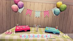My Sims 3 Blog: Baby Shower Cakes by Littlequeenny