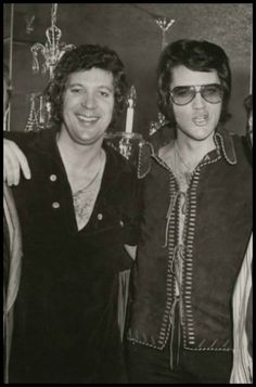 Tom Jones and Elvis Presley - Las Vegas 1970 [two of the most beautiful men in the world. jh]