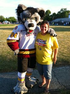 Me and The Chicago Wolves mascot Skates at the 2012 Relay For Life in FP, SP & NL