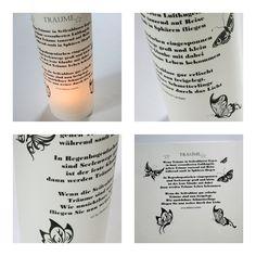 Lichthülle Träume (Gedicht) mit Schmetterlingen von ღKreawusel-Designღ auf DaWanda.com