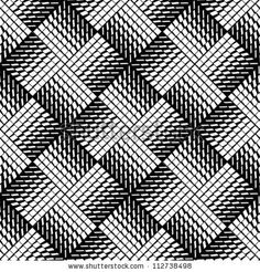 Pattern Black and white - stock vector