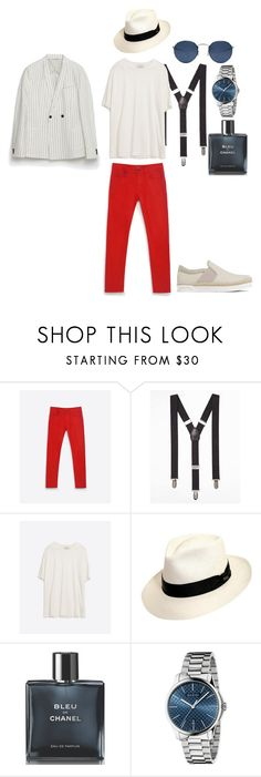 """""""panama"""" by mariellgzz on Polyvore featuring Zara, Express, Scala, Chanel and Gucci"""