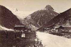Gschlößtal in Matrei in Osttirol bei Matrei um 1900. Großvenedigergletscher - Pragerhütte.
