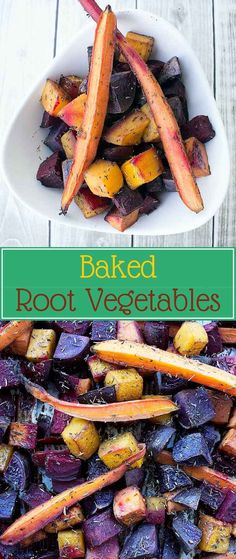 Baked Root Vegetables - One of my favorite healthy carbs are these delicious baked root vegetables. I love it when my food looks good as well as taste great, so I chose colorful root vegetables like purple potatoes, red beets, carrots and sweet potato │ TheFitBlog.com