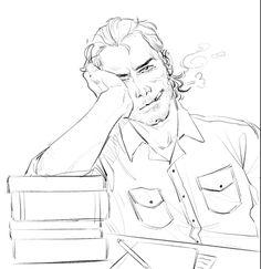 Kill Your Darlings vandermatthews au. Dutch is a writer and Hosea is a Poet. Red Dead Redemption 1, Rdr 2, Art Inspo, Cowboys, Character Art, Digital Art, Geek Stuff, Artsy, Sketches