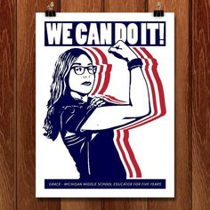 """""""We Can Do It!"""" by Maf Move."""