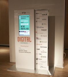 Our digital kiosks displayed conference info and sponsor logos