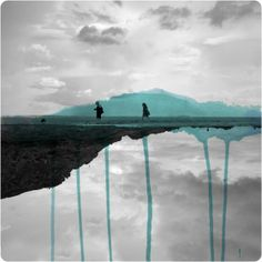 Fabienne Rivory - Miroir - Labokoff - Vecchie fotografie ritoccate con colori ad acqua