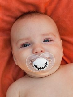 JACK- Nightmare Before Christmas- Limited Edition- Custom Hand Painted Pacifier. $13.50, via Etsy.