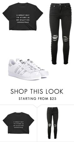 """Untitled #10"" by nesiv ❤ liked on Polyvore featuring AMIRI and adidas Originals"