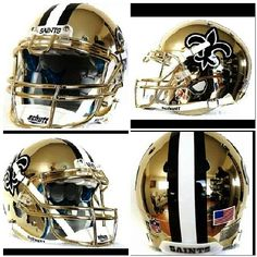 Saints Gold Chrome Helmet