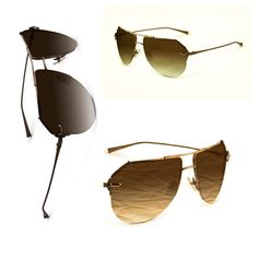 "Sama Eyewear #sunglasses of the Month of May:  Loree Rodkin ""Cameron"" in color brown"