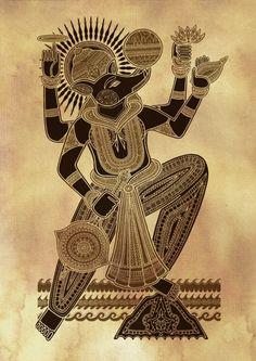 "brahmaanda: ""The 10 avatars of Vishnu (Dashavatar) depicted by British illustrator Poonam Mistry "" Shiva Hindu, Hindu Deities, Krishna Art, Hindu Art, Indian Illustration, Art Deco Illustration, Doodles Zentangles, Lord Vishnu Wallpapers, Indian Folk Art"