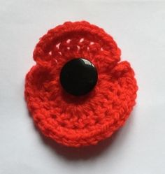 Items similar to Crochet Remembrance Day Poppy on Etsy Remembrance Day Poppy, Dorset Buttons, Bee Theme, Handmade Items, Handmade Gifts, Close To My Heart, Red Poppies, Little Gifts, Christmas Fun