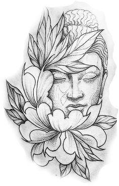 "Ergebnis für Praying Buddha Tattoo Bild Ergebnis für Praying Buddha Tattoo ""Convoque seu Buda o clima ta tenso""✍🍂 Buddha Drawing, Buddha Painting, Buddha Art, Lotus Drawing, Buddha Head, Tattoo Sketches, Drawing Sketches, Tattoo Drawings, Art Drawings"