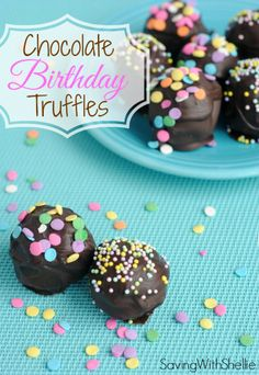 To make these easy Chocolate Truffles, you just need Oreos, Cream Cheese and Chocolate. Add sprinkles for a festive treat!