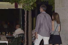 La última salida veraniega de los Reyes Cenaron en uno de sus restaurantes preferidos, La Lonja del mar, cerca del Palacio Real. 23.08.2016