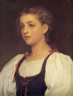 Lord Frederick Leighton (1830-1896) _Biondina Leighton- Classic Art Paintings
