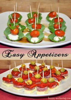 Easy Appetizers: Caprese and Antipasto Skewers Holiday Recipe Ideas easy holiday recipes Antipasto Skewers, Skewer Appetizers, Easy To Make Appetizers, Wedding Appetizers, Finger Food Appetizers, Appetisers, Yummy Appetizers, Appetizer Recipes, Appetizer Ideas