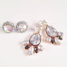 Yes, please!! Round Crystal Stud $18 Petal Leaf Drop Earring $24 sparkleandwhim.com sparkleandwhim's photo on Instagram