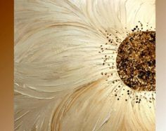 Abstracto Contemporáneo Galería lienzo espátula floral por artmod