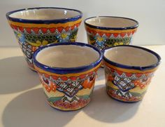 Items similar to Unique Set of 4 Talavera pottery with heart design and embossed painting. on Etsy Island On Wheels, Emboss Painting, Feng Shui Art, Tiny Living Rooms, Talavera Pottery, Custom Chocolate, Home Furniture, How To Memorize Things, Home And Garden