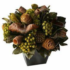 """Faux autumnal floral arrangement.   Product: Faux floral arrangementConstruction Material: WoodColor: MultiDimensions: 12"""" H x 10"""" Diameter"""