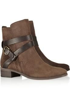 See by Chloé Buckled suede ankle boots