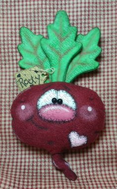 My Heart Beets for You Pattern - Primitive Doll Pattern - Valentine - Love - Beets - Heartbeat - Whimsical - Fiber Art - English Only One And Only, Heart Beet, Love Beets, Primitive Doll Patterns, Biscuit, Cover Pages, Pattern Paper, Painting On Wood, Needle Felting
