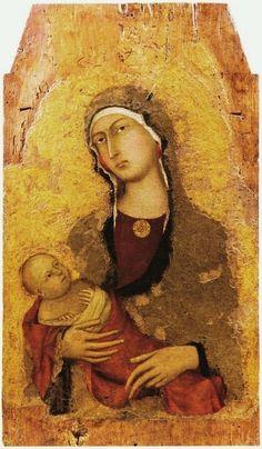 Simone Martini (Siena, 1284 circa – Avignone, 1344)  Madonna con Bambino