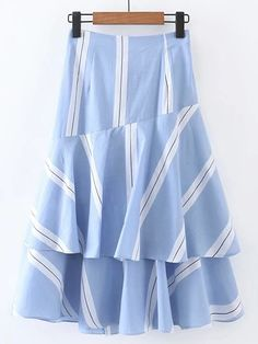SheIn offers Bow Tie Waist Layered Ruffle Skirt & more to fit your fashionable needs. Chiffon Skirt, Ruffle Skirt, Dress Skirt, Cute Skirts, Short Skirts, Modest Fashion, Fashion Dresses, A Line Skirt Outfits, Chambray Skirt