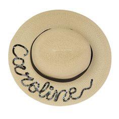 Medium Brim Personalised Straw Boater Hat in 2019  0aaeeb6bfc5d