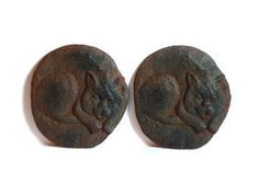 Pair of Antique Cast Iron Kittens by aestheticallyantique on Etsy, $60.00