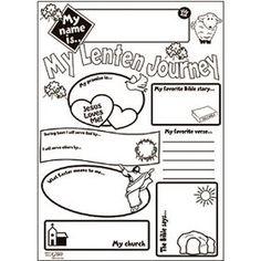 Catholic Kids Arts And Craft Gift My Lenten Journey Huge 21