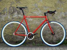 Traffic Red Fixed Gear Bike