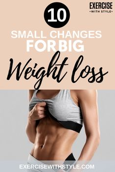 Super effective lifestyle changes to boost fat loss! Speed up weight loss with these 10 small but simple changes and get healthier in just a few days. Great weight loss motivation tips to start today! Weight Loss For Women, Fast Weight Loss, Weight Loss Plans, Weight Loss Tips, Lose Weight In A Week, How To Lose Weight Fast, Weight Loss Motivation, Fitness Motivation, Fitness Tips