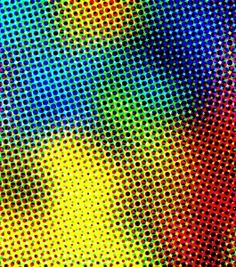 Abstracted photo in colour halftone