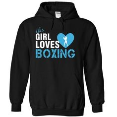 This girl loves boxing T Shirts, Hoodies, Sweatshirts. CHECK PRICE ==► https://www.sunfrog.com/Sports/This-girl-loves-boxing-8829-Black-4511910-Hoodie.html?41382