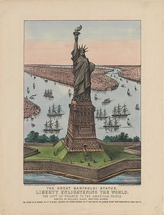 Currier & Ives (American, 1837–1907). Statue of Liberty, 1885. The Metropolitan Museum of Art, New York. The Edward W. C. Arnold Collection of New York Prints, Maps and Pictures, Bequest of Edward W. C. Arnold, 1954 (54.90.778) #newyork #nyc
