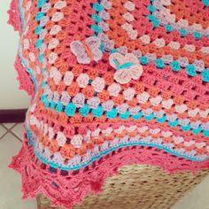 Make me some happy - crochet baby blanket