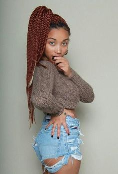 there's sure to be a burgundy box hairstyle which will suit your taste. Here are Must-Have Burgundy Box Braids Hairstyles 2019 For Africans. Box Braids Hairstyles, Box Braids Updo, Blonde Box Braids, Try On Hairstyles, Braided Hairstyles For Black Women, Box Braids Styling, Hairstyle Braid, Tree Braids, Braids Ideas