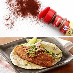 Fiery heat on the outside, flaky tilapia on the inside. These hearty fish tacos are a win-win the bold flavors of chili powder and a citrusy lime finish.