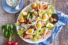 Kijk wat een lekker recept ik heb gevonden op Allerhande! Frisse lentesalade met makreel, kriel en radijs