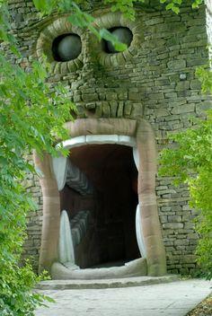 The Forbidden Corner portal at Tupgill Park,Yorkshire Dales nr Leyburn, England