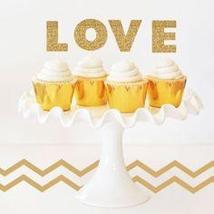Personalized Gold Glitter Stickers (Set of 6) — Joyful Event Decor