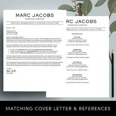 "Career ⚡ 24 HOUR NEW YEARS FLASH SALE - LIMITED TIME. ⚡ Take an extra 67% off when you buy 1 and get 2 FREE with coupon code BOGO2FREE. Coupon expires at 11:59pm PST. Need a resume design makeover? The instant download ""MARC resume template has a modern and clean design with a simple,"