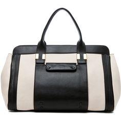Chloe Alice Springs Large Handbag in Husky White (1,990 CAD) found on Polyvore