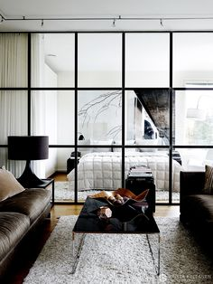 Sleek and contemporary in Finland Modern Scandinavian Interior, Minimalist Scandinavian, Interior Windows, Interior And Exterior, Interior Design, Villa, Panel Doors, Small Apartments, Interior Inspiration